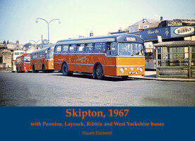 Skipton,1967 with Pennine, Laycock, Ribble and West Yorkshire buses